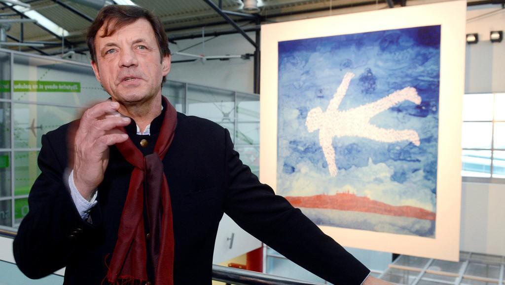Petr Sís s havlovskou tapisérií