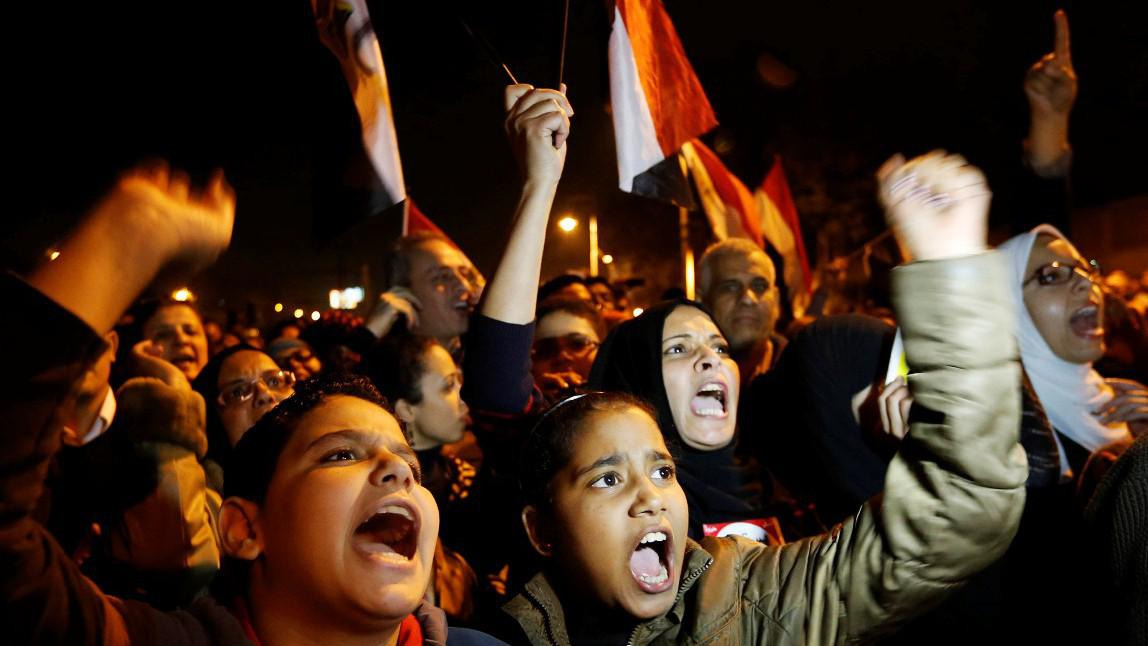 Masové protesty v Egyptě