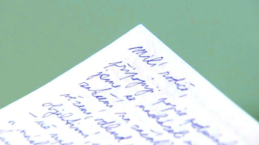 Dopis jednoho ze zadržených Čechů v Řecku