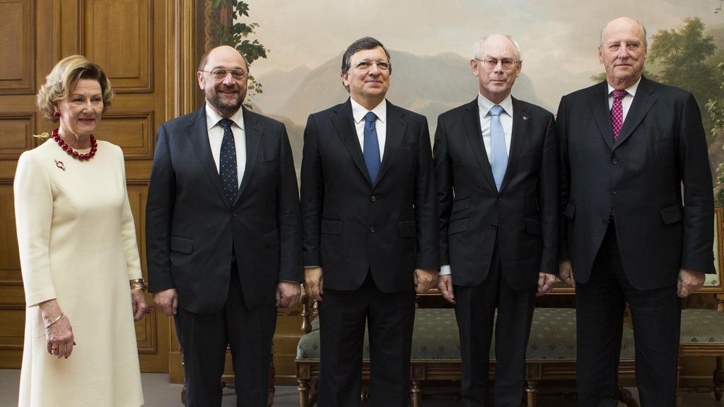 Představitelé EU převzali Nobelovu cenu míru