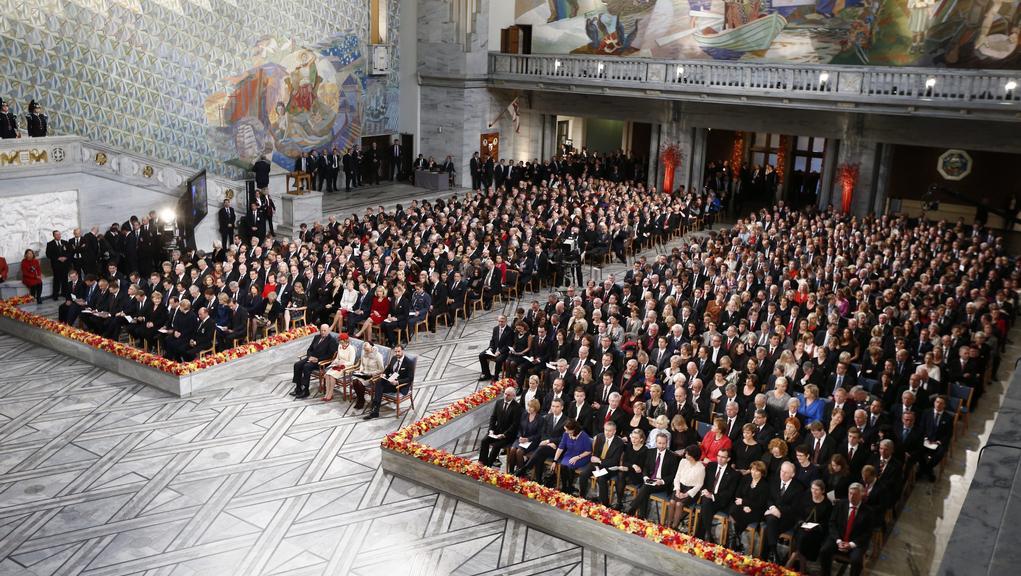 Předávání Nobelovy ceny míru