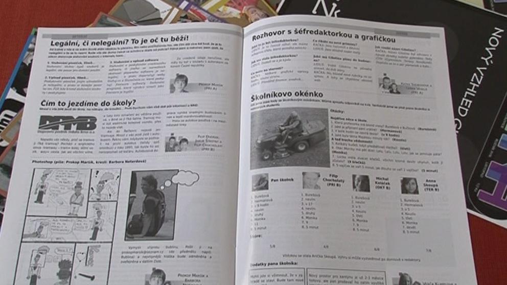 Ukázka ze školního časopisu