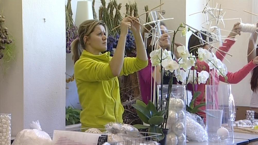 Výstava vánoční výzdoby se v Rybničním zámečku koná již po páté