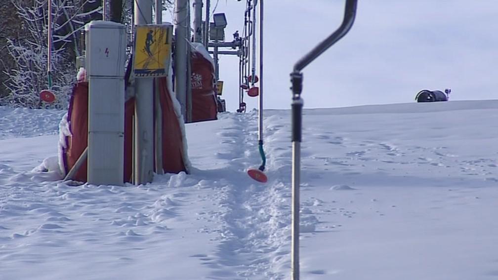 Koberec z umělé hmoty dává lyžařům lepší stabilitu