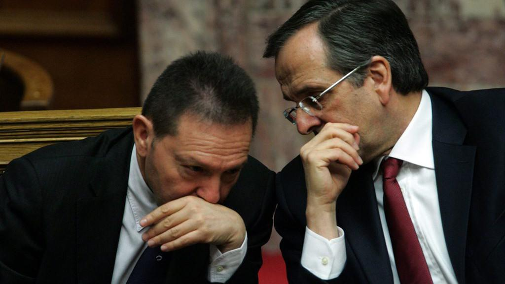 Antonis Samaras a Yannis Stournaras