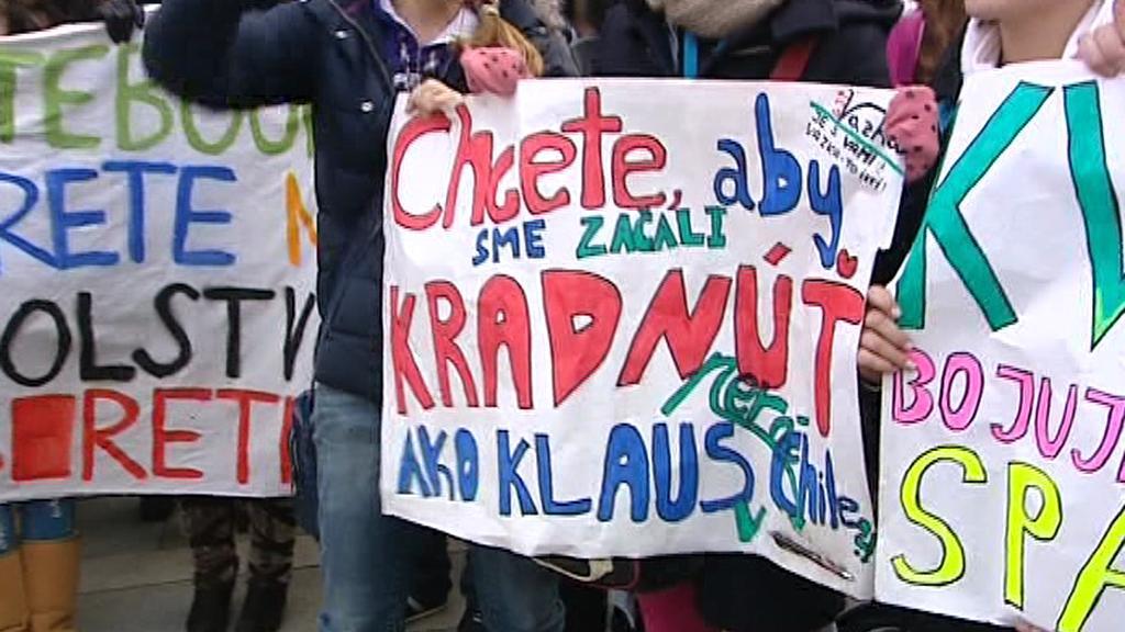 Protest slovenských studentů