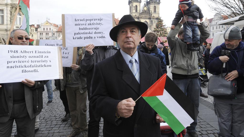 Protest proti návštěvě Benjamina Netanjahua