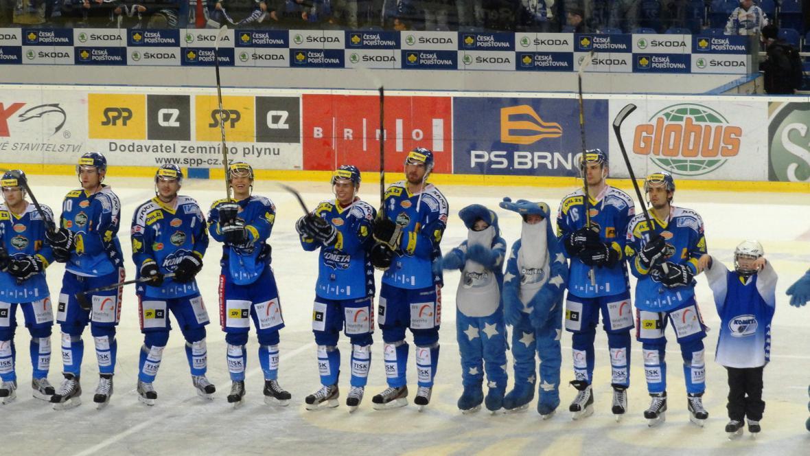 Děkovačka brněnských hokejistů