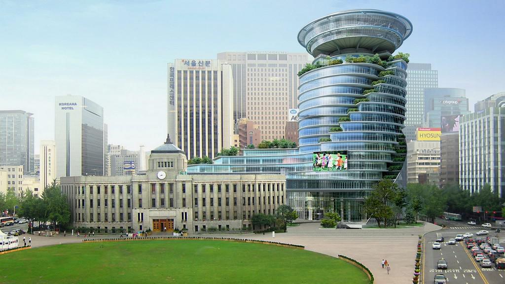 Jihokorejský Soul - návrh nové vládní budovy