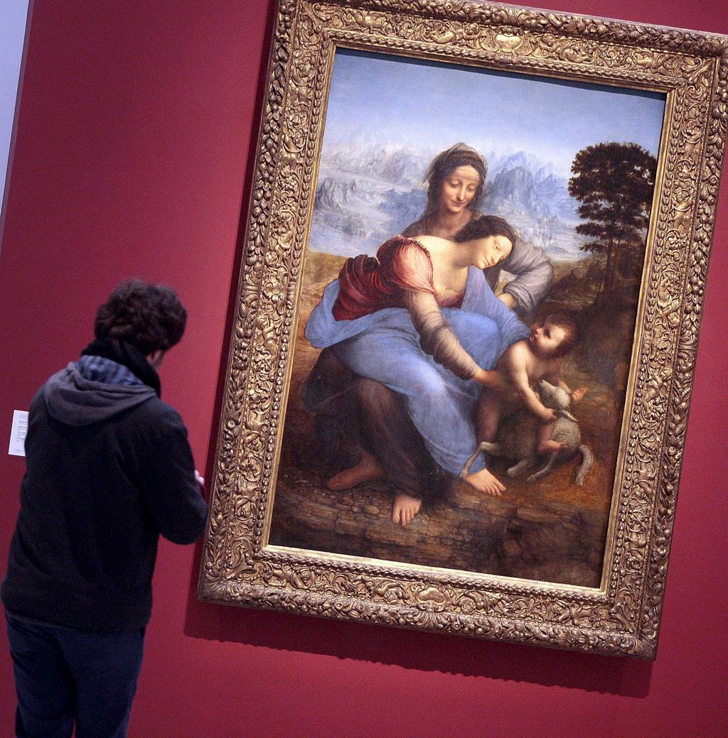 Leonardo da Vinci / Panna Maria s dítětem a sv. Annou