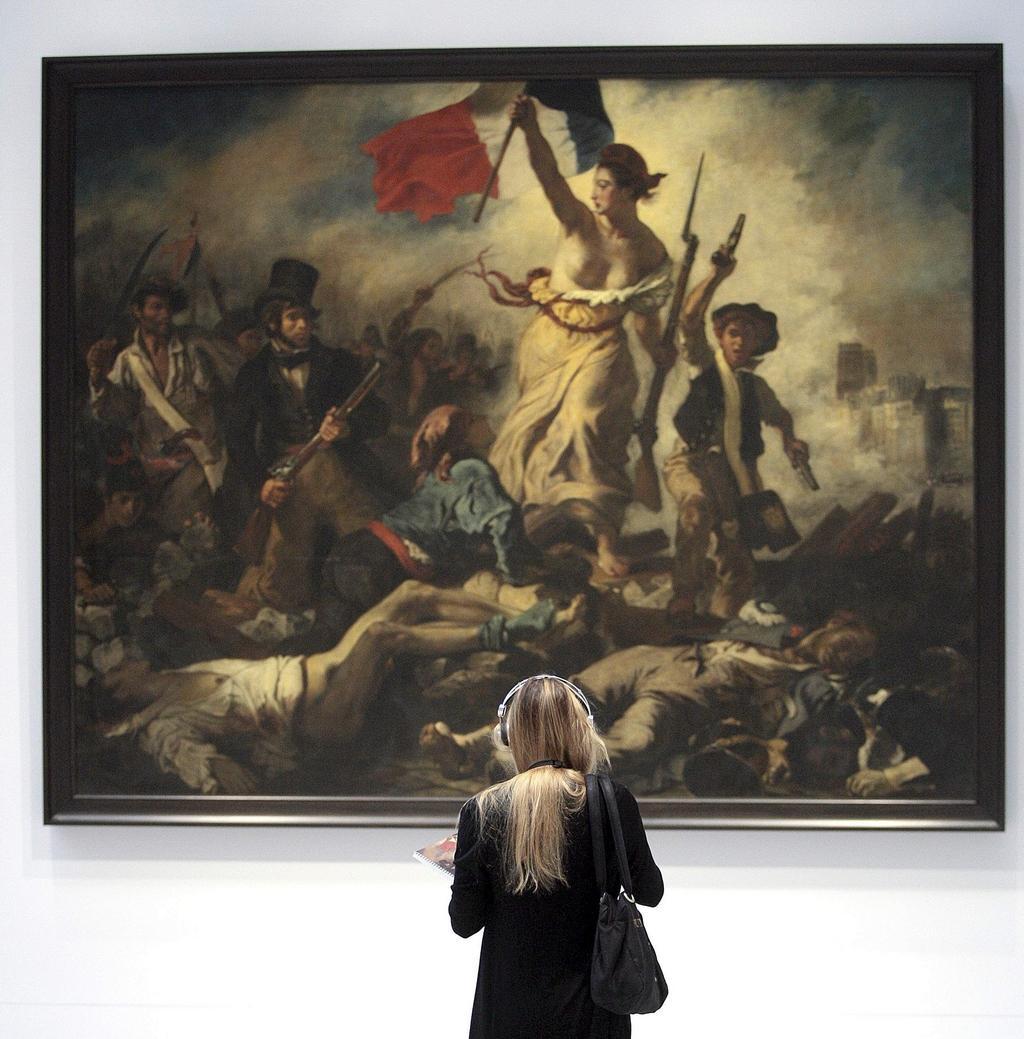 Eugen Delacroixe /  Svoboda vede lid na barikády