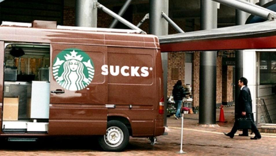 Dodávka řetězce Starbucks