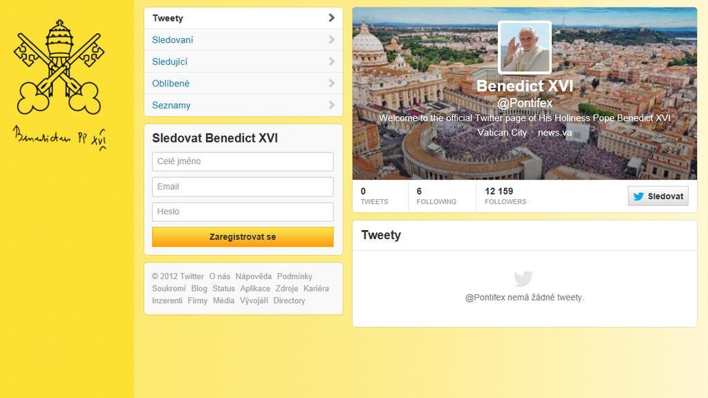 Papež naTwitteru