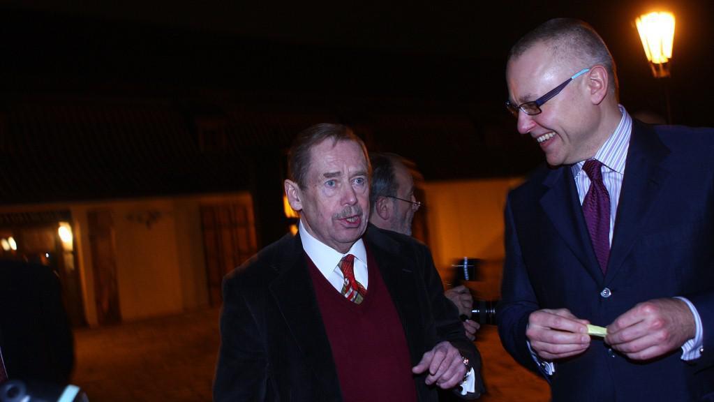 Václav Havel a Zdeněk Bakala