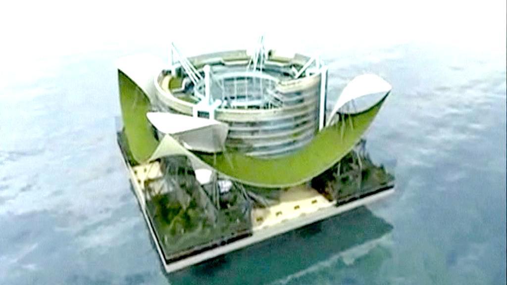 Model plovoucího města