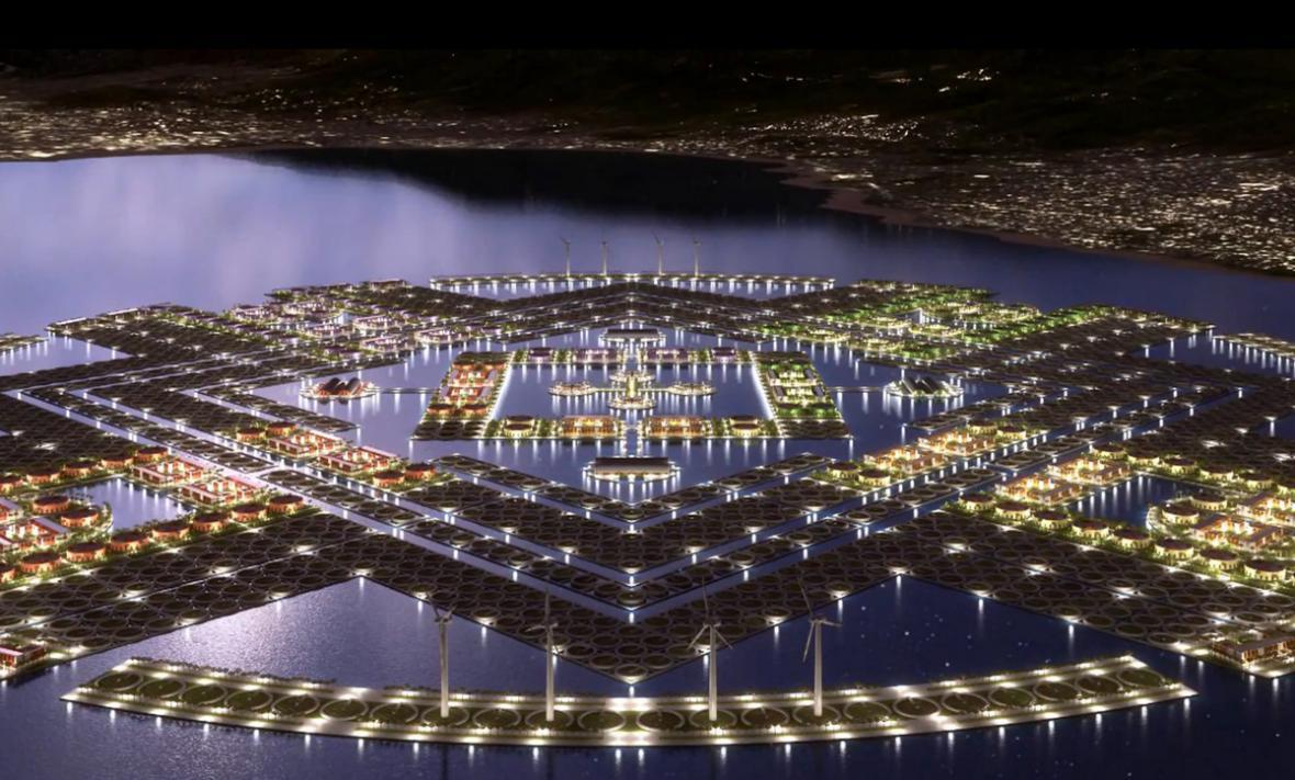 Vizualizace plovoucího města