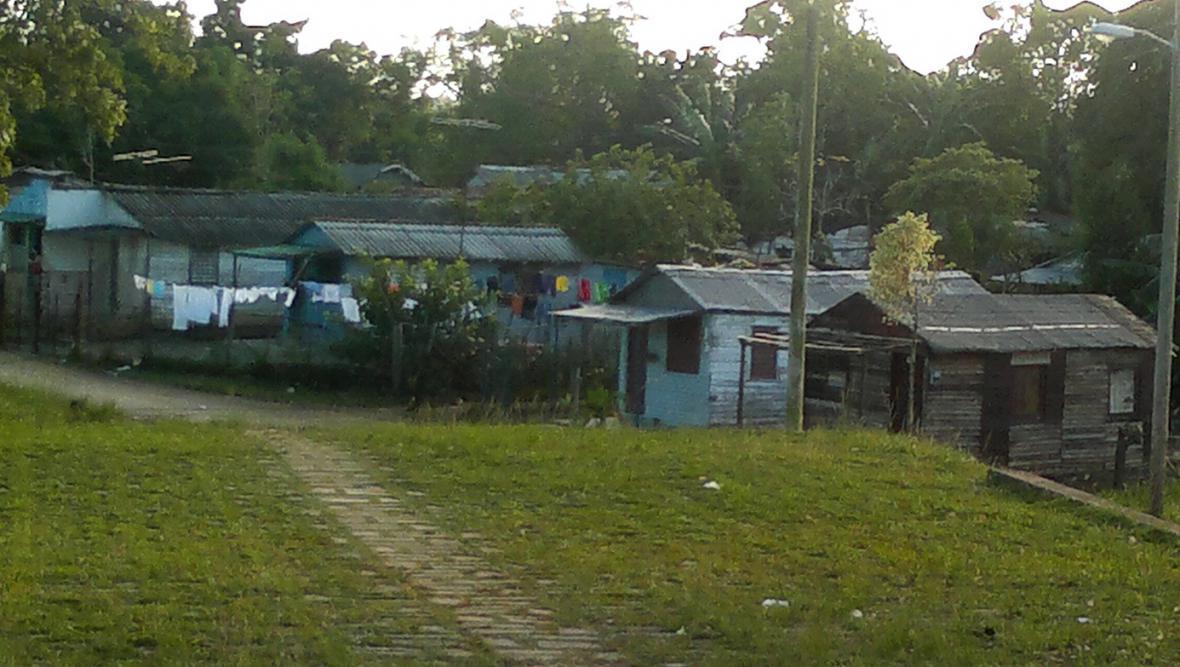 Typické domky na kubánském venkově