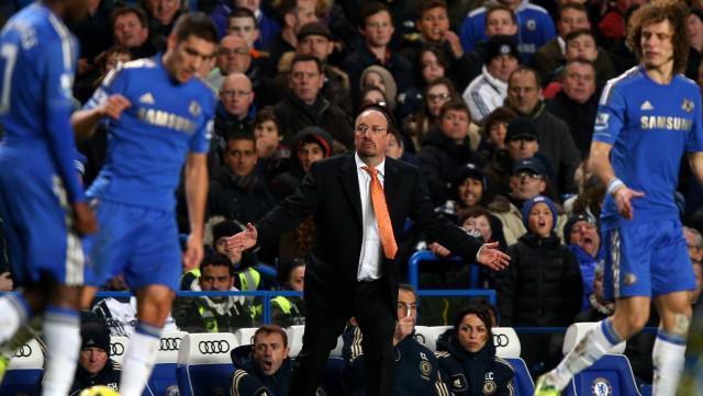 Rafael Benítez a hráči Chelsea