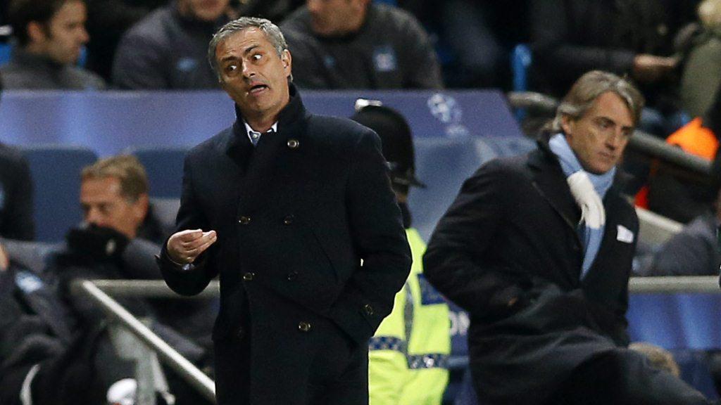 José Mourinho a Roberto Mancini