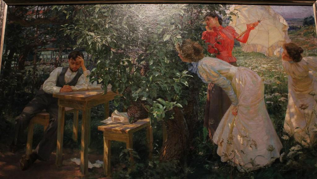 František Kupka / Knihomol - 1897 (výřez)