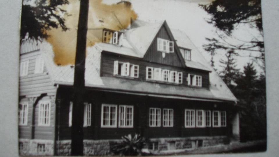 Prezidentská chata na dobové fotografii