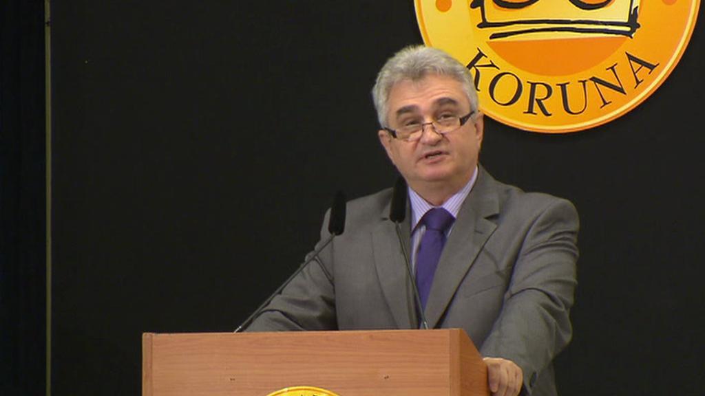 Předseda Senátu Milan Štěch (ČSSD) na fóru Zlatá koruna