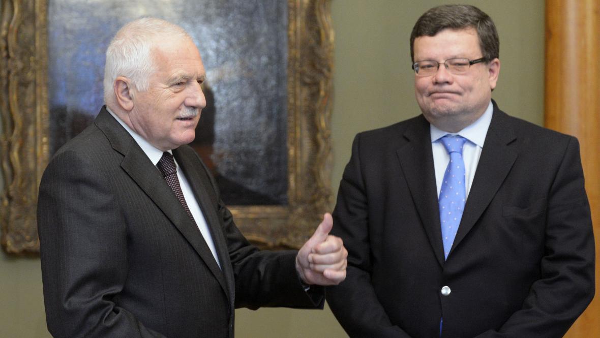 Klaus přijal odstupujícího ministra Vondru