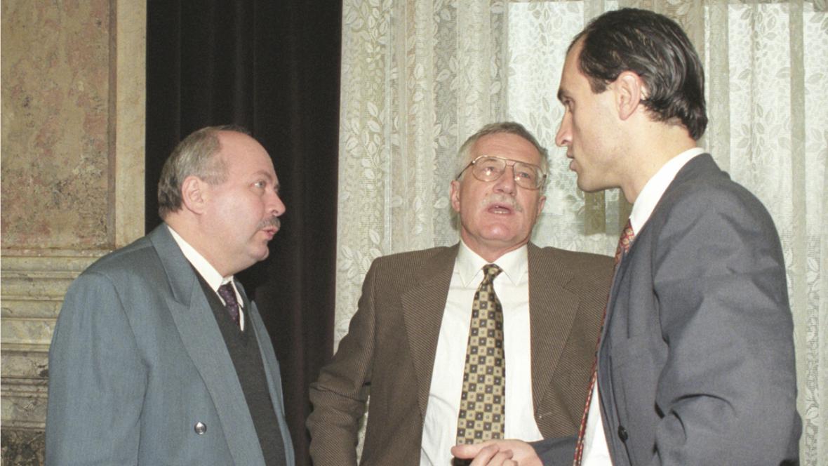 Josef Zieleniec, Václav Klaus a Ivan Pilip