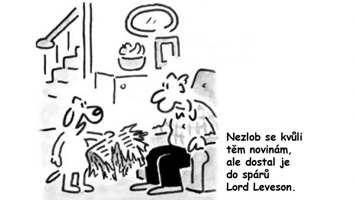 Karikatura z listu Daily Telegraph
