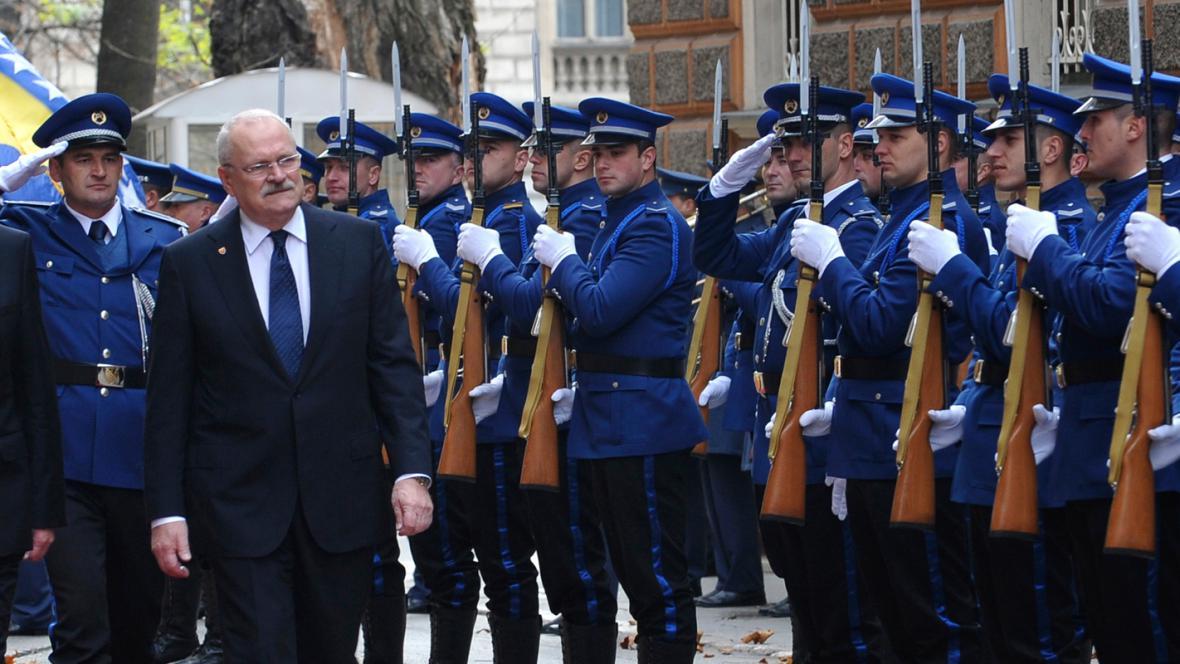 Ivan Gašparovič na návštěvě Bosny