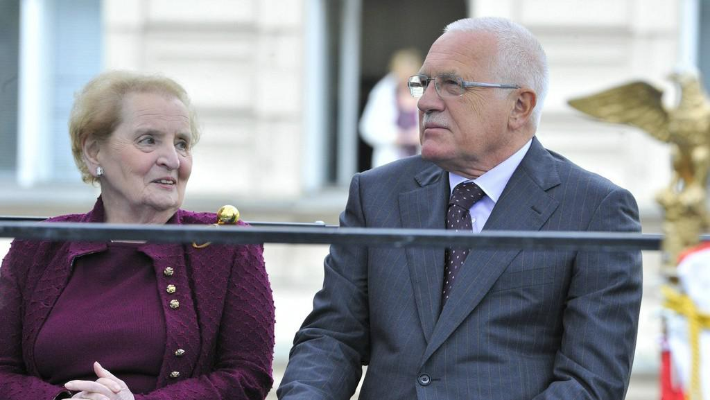Madeleine Albrightová a Václav Klaus
