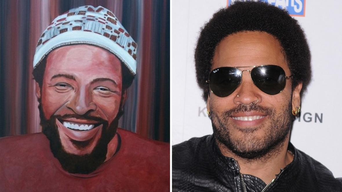 Marvin Gaye (vlevo) a Lenny Kravitz