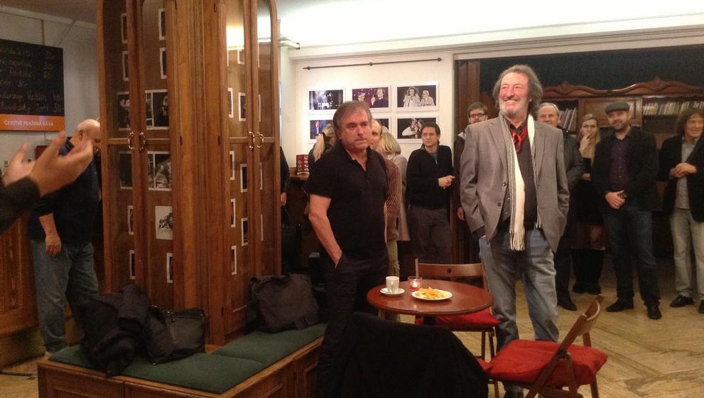 Režisér pořadu Rudolf Chudoba a Bolek Polívka
