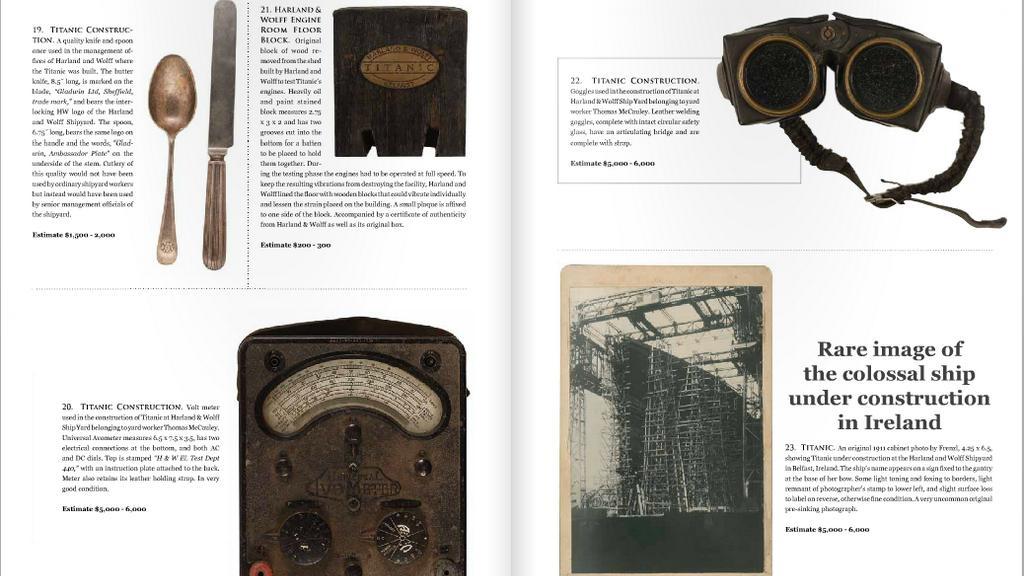 Artefakty z Titaniku jdou do dražby