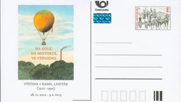 Příležitostná dopisnice s návrhem Kamila Lhotáka na známku
