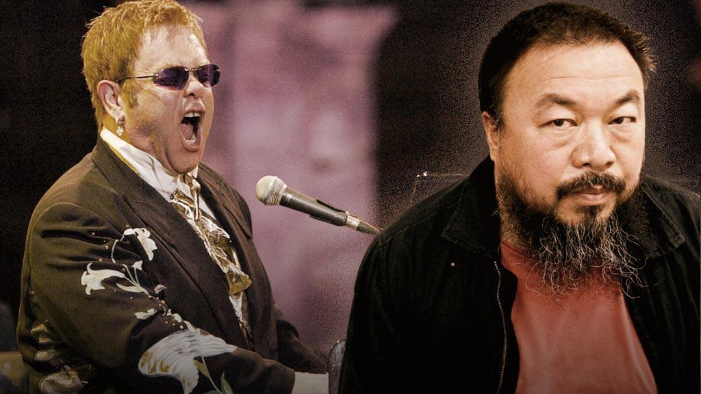Elton John a Aj Wej-Wej