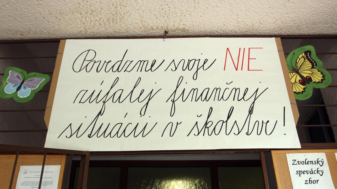 Stávka učitelů na Slovensku