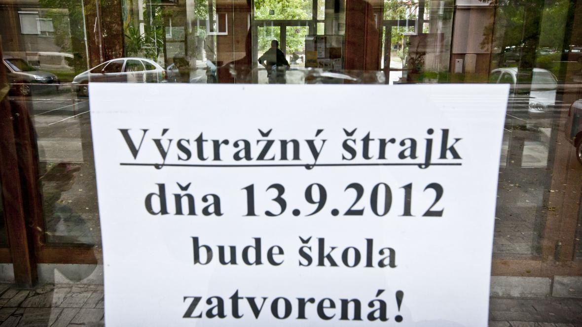 Stavka učitelů na Slovensku