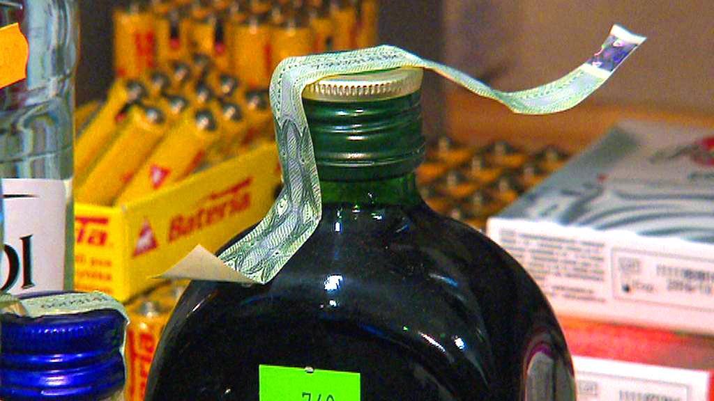 Chybně okolkovaná láhev