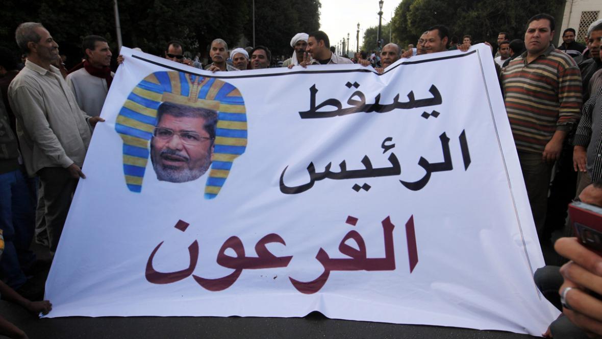 Demonstrace proti egyptskému prezidentovi Mursímu