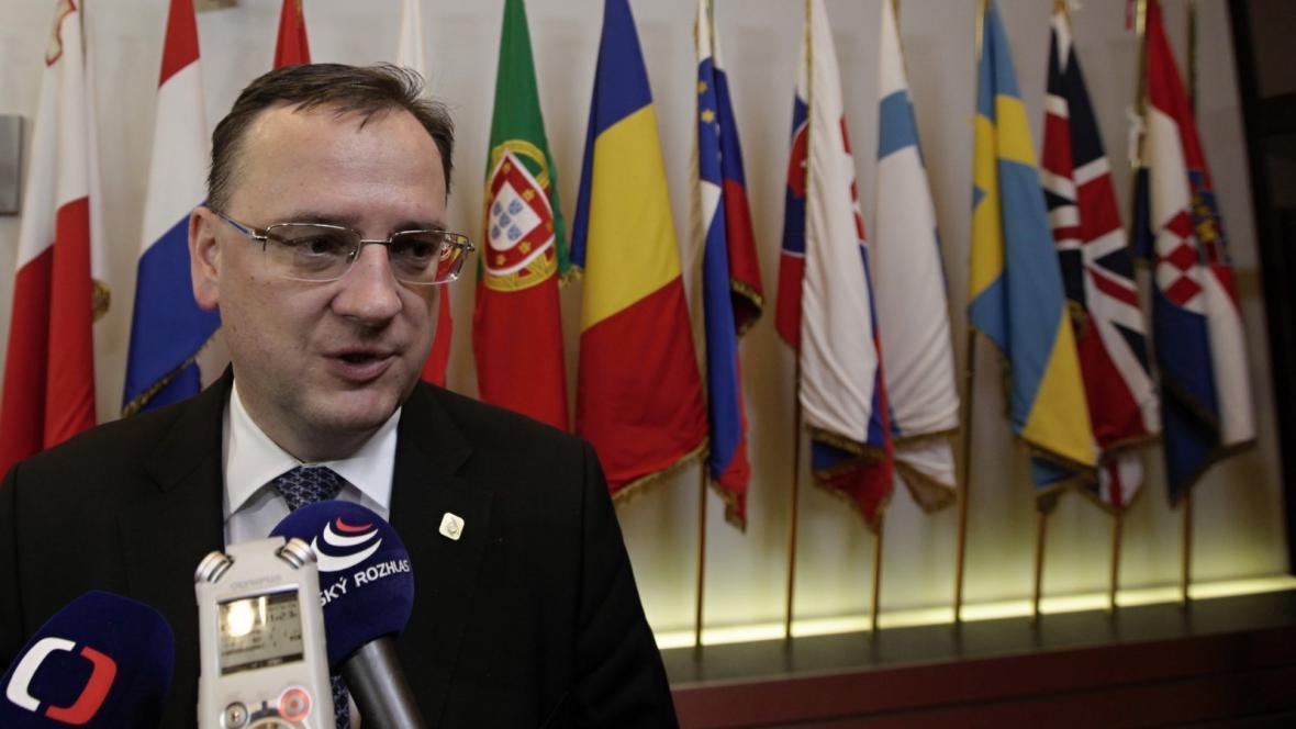 Premiér Petr Nečas na listopadovém summitu EU