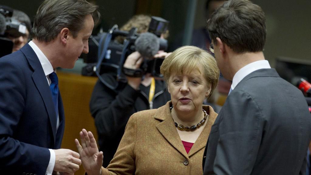 Německá kancléřka Angela Merkelová na summitu o unijním rozpočtu v Bruselu