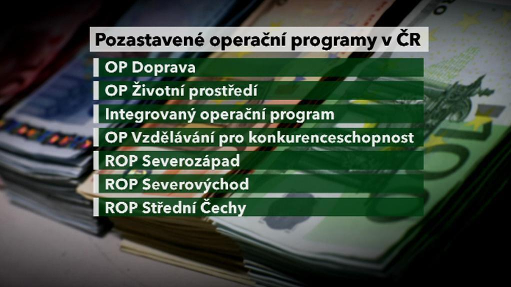 Pozastavené operační programy v ČR