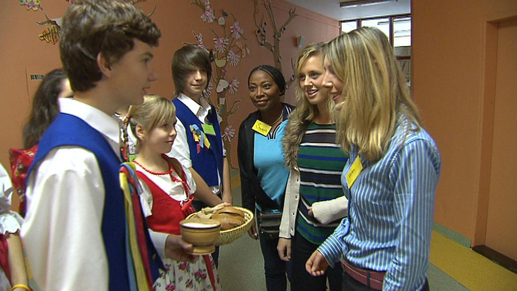 Zahraniční studenti na návštěvě v české škole