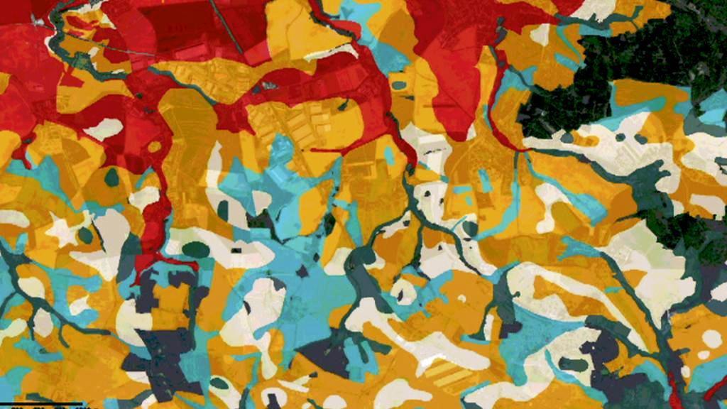 Speciální mapa zobrazující kvalitu půdy