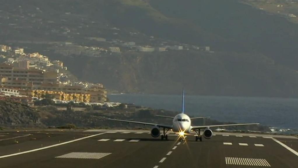 Ranvej na letišti La Palma