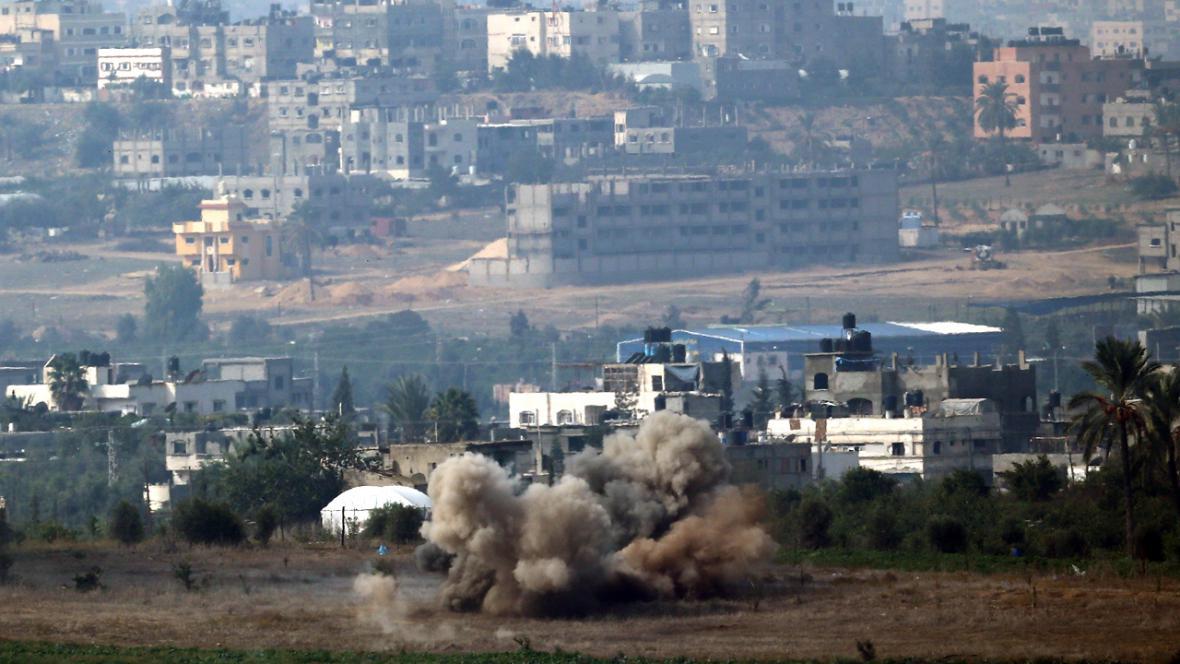 Boje na hranicích pásma Gazy