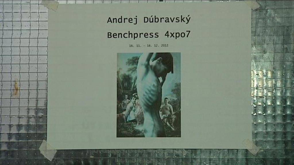Andrej Dúbravský vystavující