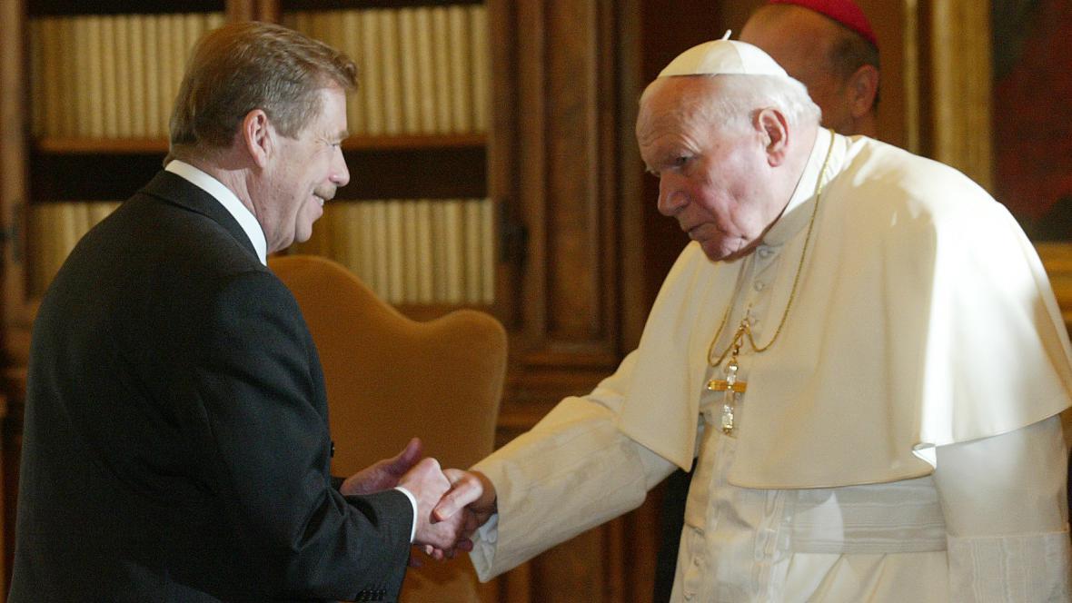 Papež Jan Pavel II. a Václav Havel