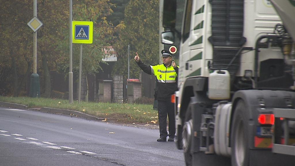 Zastavení kamionu